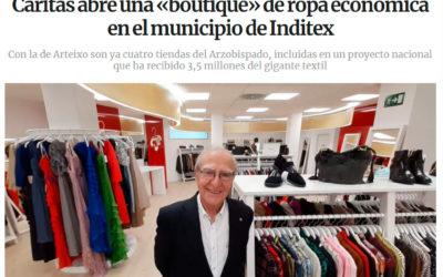 A prensa galega faise eco da apertura da nosa nova tenda de Arteixo
